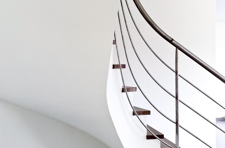 courbe d'escalier intérieur, architecture