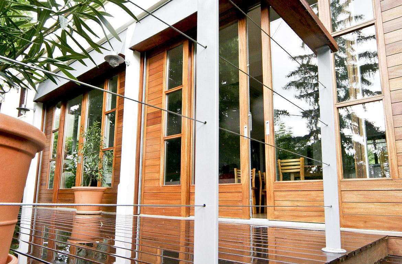 garde corps en inoxe pour terrasse suspendue