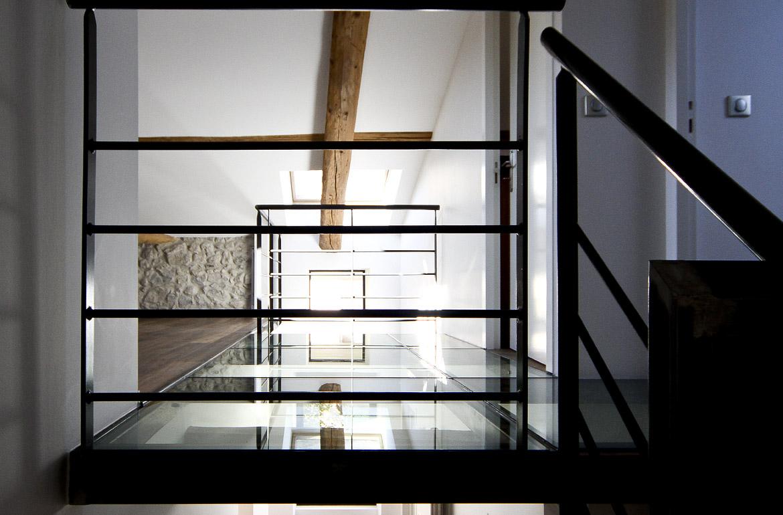 palier d'escalier dans maison art déco