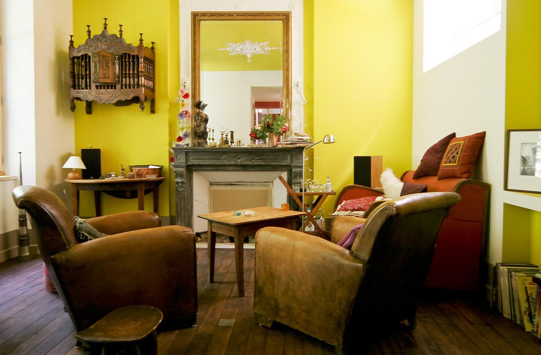 aménagement d'intérieur du salon style boheme