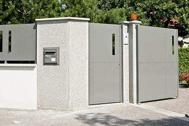 Architecte grenoble am nagement int rieur portails et cl tures - Interieur moderne inspirant piliers en beton ...