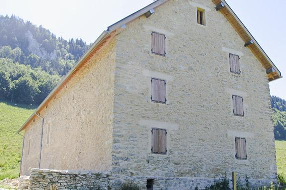 pignon de grange du vercors, projet d'architecte