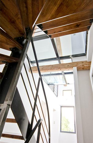 escalier et vue intérieur maison art déco