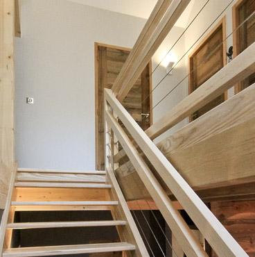 architecture escalier en bois