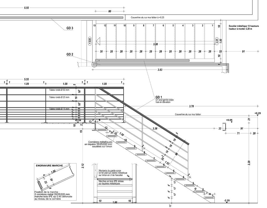 100 escalier plan coupe elodie studio kar csony wix. Black Bedroom Furniture Sets. Home Design Ideas