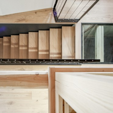 escalier intérieur de chalet