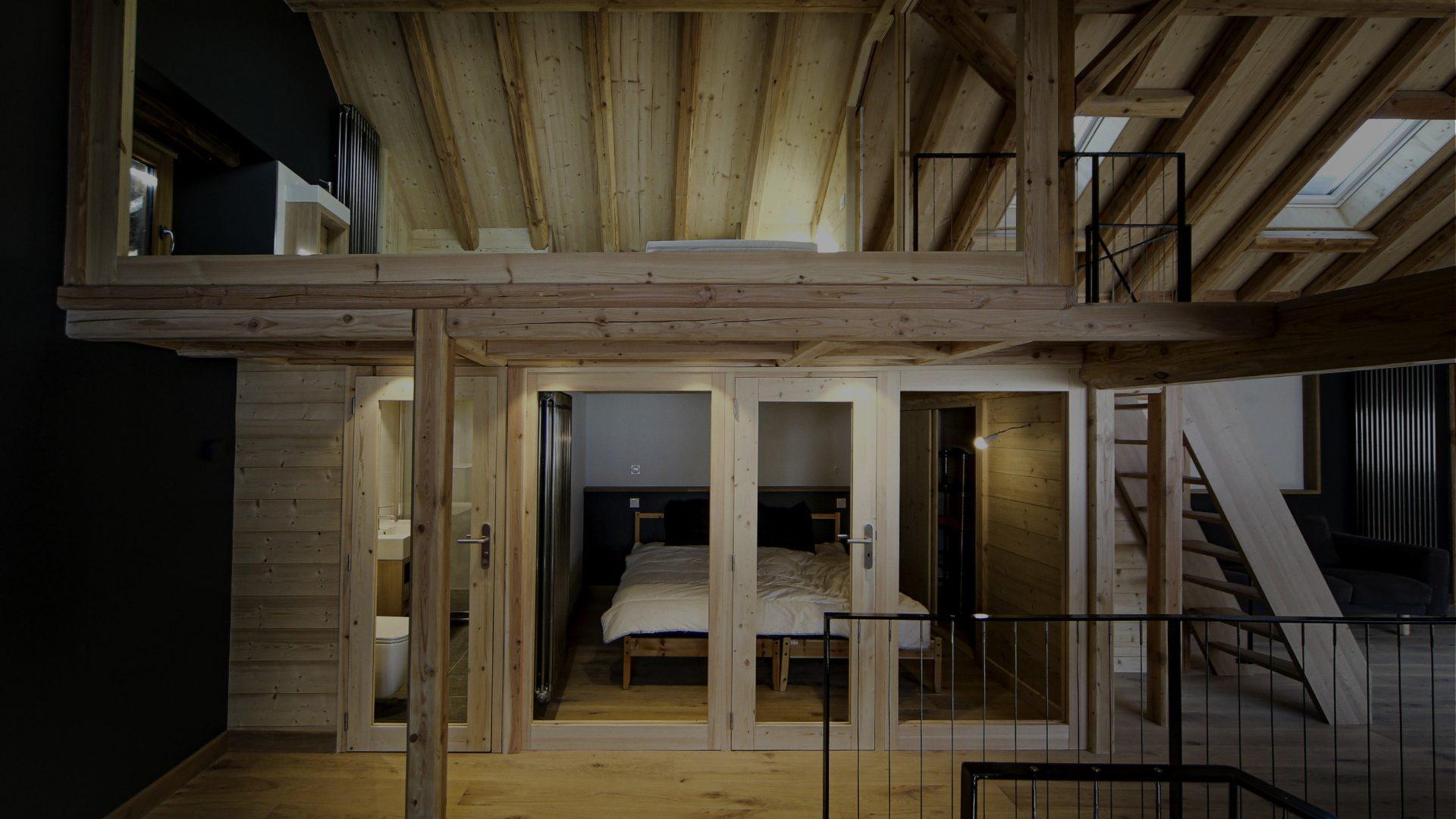 Chalet d'Alpage en bois, réalisation d'architecture pour extension et réhabilitation